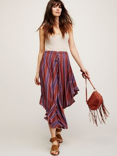 Plum Combo Full Stripe Pant at Free People Clothing Boutique