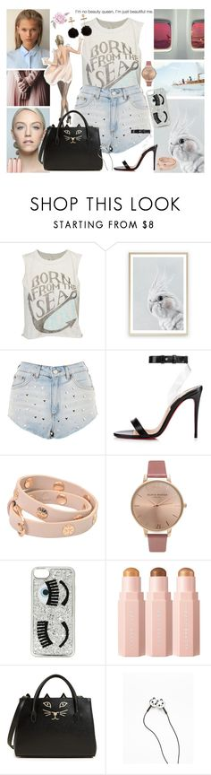 """""""stuck in the dark but you're my flashlight"""" by thaianyjungton ❤ liked on Polyvore featuring Vacanze Italiane, Topshop, Christian Louboutin, Tory Burch, Enchanté, Olivia Burton, Chiara Ferragni, Charlotte Olympia and Bershka"""