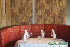 Designer Cork Tiles bring the raw beauty of the forest into homes, lobbies, restaurants, salons and commercial spaces by transforming walls into natural art pieces. (Shown here in Sierra)
