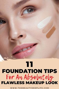 Foundation Tips & Makeup Guide: Learn everything you need to know about foundation makeup from application to blending, to formulas, to how to prepare your skin for it and more!! Also be sure to check out our foundation brush guide to help you achieve a perfect flawless look!! #foundationmakeuptips #foundationmakeup #foundationbrushes #beauty #makeup Best Makeup Tips, Makeup Guide, Best Makeup Products, Makeup Tips Foundation, Foundation Brush, How To Apply Eyeshadow, How To Apply Makeup, Beauty Tips And Secrets, Beauty Hacks