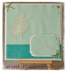 Peaceful Christmas Wishes Handmade card