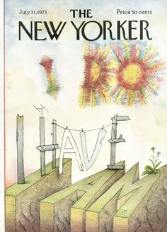 The New Yorker - Saturday, July 31, 1971 - Issue # 2424 - Vol. 47 - N° 24 - Cover by : Saul Steinberg