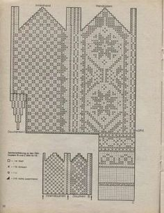 mönster bak o fram Knitted Mittens Pattern, Knit Mittens, Mitten Gloves, Knitting Socks, Hand Knitting, Knitting Charts, Knitting Stitches, Knitting Patterns Free, Crochet Patterns