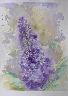 Lilas watercolor