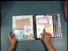 Maybe a good way to utilize those papers that are too pretty to cut down to small pieces.  Half Page Album - Final Review - YouTube