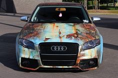 Audi A4 lowered — wrapped by SignMania Small Luxury Cars, New Luxury Cars, Carros Audi, Rusty Cars, Audi Cars, Sweet Cars, Car Painting, Car Wrap, Cool Cars