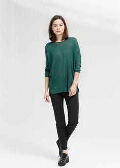 Fine-knit oversize sweater
