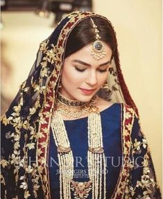 Simple make up Pakistani Bridal Makeup, Bridal Mehndi Dresses, Indian Bridal, Pakistani Jewelry, Pakistani Couture, Pakistani Formal Dresses, Pakistani Wedding Outfits, Bridal Outfits, Asian Wedding Dress