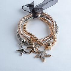 3 Piece Set Multilayer Women's Bracelet Retail – Star Fish