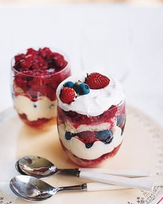 Independence Day (July 4, 1776) or Memorial Day (last Monday of May, Civil War) or Veteran's Day (November 11th, 1918): Mixed Berry Trifle