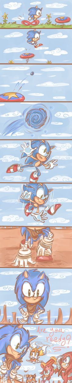 This is the coolest thing ever!!! Seriously! Evolution from classic, to modern, to Boom Sonic!