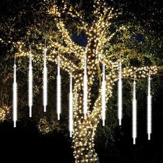 Buy Meteor Lights,SHONCO 10 Tubes 540 LED Meteor Shower Raindrop Lights Waterproof Snow Falling Icicle Lights Outdoor Cascading String Lights for Garden Party Wedding Christmas Tree Patio (White) Icicle Lights Outdoor, Led String Lights, Outdoor Lighting, Light String, Indoor Lights, String Lighting, Event Lighting, Tree Lighting, Wedding Lighting