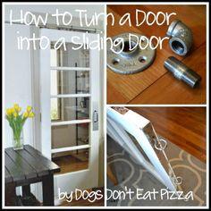 turn an old door into a sliding door, doors, how to, kitchen design, repurposing upcycling