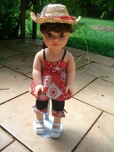 Country Girl Capri Set for 18 Dolls by RnPStitchery on Etsy, $13.50