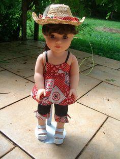 Country Girl Capri Set for 18 Dolls by RnPStitchery on Etsy, $13.50