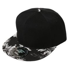 SMITHJAY Hipster Hip-Hop 2 Tone Tropical Leaf Snapback Hat Cap WHITE B ❤ liked on Polyvore featuring accessories, hats, leaf hat, white snapback, cap snapback, snapback cap and snapback hats