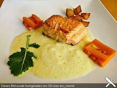 Chefkoch.de Rezept: Lachs auf Kohlrabicremespiegel