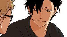 Kuroo Tetsurou x Tsukishima Kei / Haikyuu! Tsukishima Kei, Kuroo Tetsurou, Kagehina, Haikyuu Dj, Manga Haikyuu, Haikyuu Ships, Haikyuu Fanart, Manga Anime, Hinata