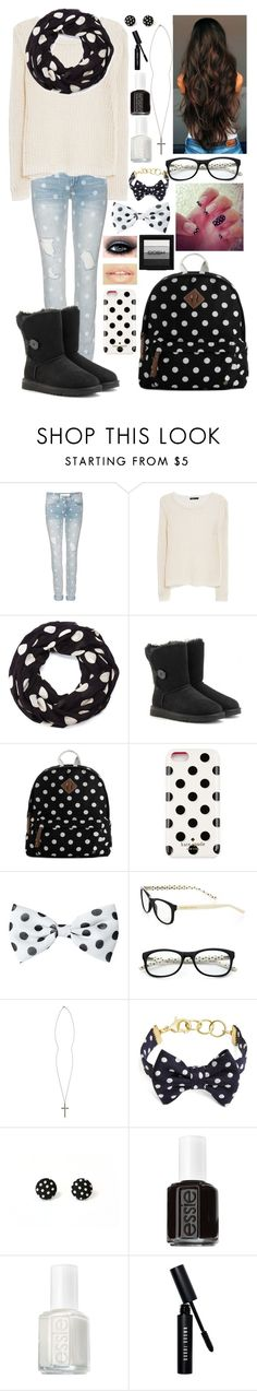 """""""~Winter Polka Dots~"""" by raianna-starz ❤ liked on Polyvore featuring Marc by Marc Jacobs, MANGO, Sole Society, UGG Australia, Steve Madden, Kate Spade, Bobbi Brown Cosmetics, River Island, Brooks Brothers and Essie"""