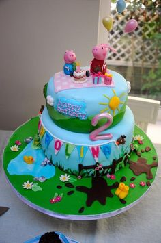 Looking for cake decorating project inspiration? Check out Peppa Pig birthday cake by member BAKEACAKE4ME.