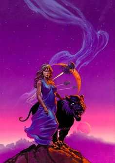 MICHAEL WHELAN - art for Diadem From The Stars by Jo Clayton - 1977 DAW Books