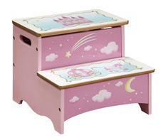 Princess Step Stool With Storage