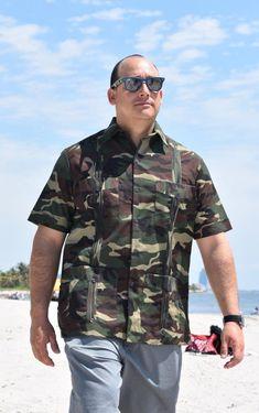03a39a4c1f D Accord Men s Guayaberas The Hunter Camouflage Guayabera 2467 Camo  Guayabera Guayabera Shirt