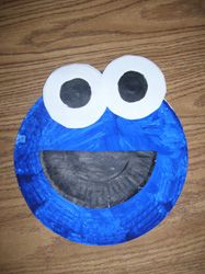 Another teacher did this with her class but she added a  chocolate chip cookie (painted circle) in Cookie Monster's mouth.  Too cute! Gonna do this next year.