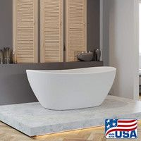 65 X 34 Inch Cultured Marble Double Slipper Tub Packages Washington Cultured Marble Marble Tub Slipper Tubs