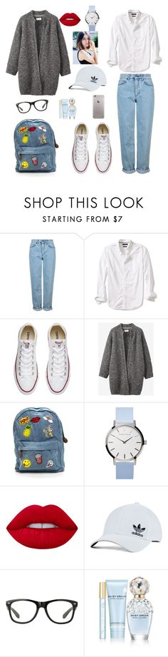 """BoyGirl colectons"" by sandrabozenik ❤ liked on Polyvore featuring Topshop, Banana Republic, Converse, Toast, Lime Crime, adidas Originals and Marc Jacobs"