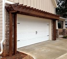 Pergola over garage gives a stylish looks to your garage and display it like a special area of your home. To decor your garage wooden pergola design is the best Diy Pergola, Garage Pergola, Wooden Pergola, Outdoor Pergola, Pergola Shade, Outdoor Decor, Pergola Ideas, Cheap Pergola, Gazebo