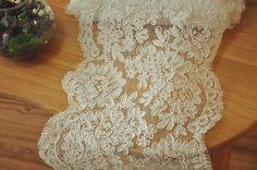 French Alencon Lace Trim  Bridal Veil Wedding Lace by lacetime