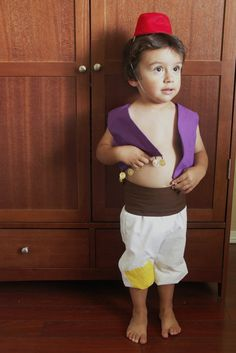 Imagine this as a Halloween costume too with a younger sibling as the monkey, Abu!! My Adventure Aladdin Costume from Disney's Aladdin  by LadyHerndon, $50.00 #disney