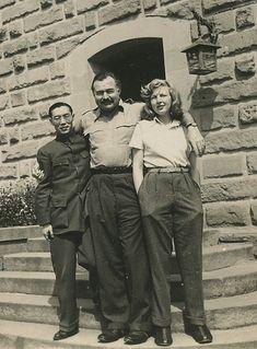Ernest Hemingway, Martha Gellhorn, and unidentifed person, via Flickr.