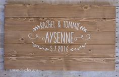 Wooden Guest Book Alternative