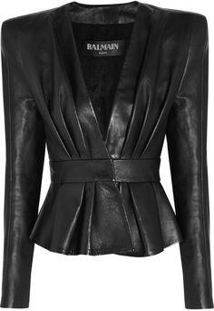Leather Jacket - Balmain