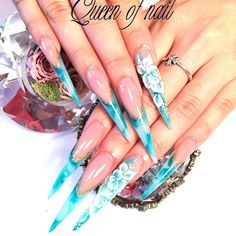 Stiletto nails, acrylic, unhas, naglar, nail art