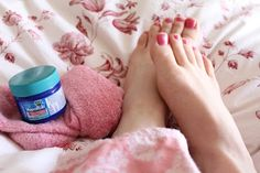 Rub your feet with Vicks Vapor Rub to stop coughing at night.  Place socks on to seal in the Vicks.  Supposedly the pores in the bottom of your feet will absorb the oils more quickly than any other part of your body. (hmmm...i've heard this before but haven't tried it. will give it a try and see...) tips-and-tricks