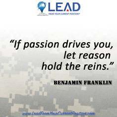 If passion drives you