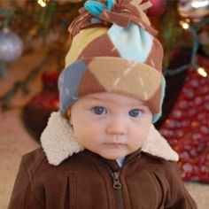 Awww! A quick tutorial on how to make a little fleece hat. A perfect gift for the little person in your life.