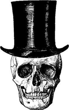 top hat skull Service Assiette, Bike Cover, Skull Island, Macabre Art, Images And Words, Art Hoe, Black And White Illustration, Skull Tattoos, Halloween Cards