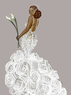 Explore amazing art and photography and share your own visual inspiration! Black Love Art, Black Girl Art, My Black Is Beautiful, Black Girl Magic, Beautiful Bride, Fashion Paintings, Fashion Art, African American Art, African Art