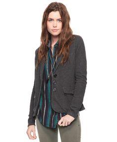 Cotton charcoal blazer (style + comfort)