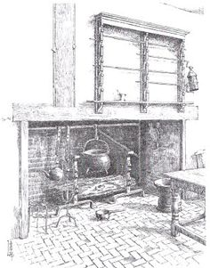 Colonial America: the simple life: Early American fireplaces and cooking