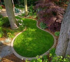 Stone border with brick cap.   Landscape Flowerbed Edging ...
