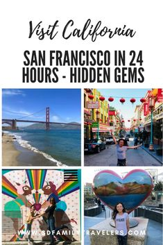 """Check out these 3 San Francisco hidden gems that don't reach the top of the """"must see"""" list but SHOULD and can be done in 24 hours! California San Francisco, San Francisco With Kids, Visit California, California Travel, San Francisco Girls Trip, Weekend In San Francisco, Sausalito California, San Francisco Zoo, Santa Cruz California"""