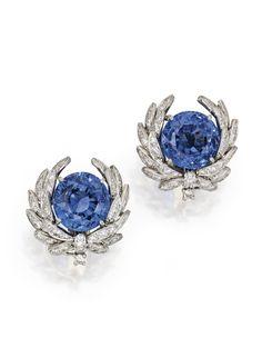 Platinum, sapphire and diamond