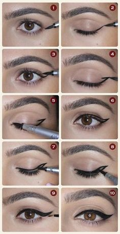 21 simple eyeliner hacks everyone should try - http: //embassy-toptrendspint. - 21 simple eyeliner hacks everyone should try embassy top trends … - Eyeliner Make-up, Eyeliner Hacks, How To Apply Eyeliner, Applying Eyeliner, Silver Eyeliner, Applying Makeup, Wing Tip Eyeliner, Black Eyeliner, Coloured Eyeliner