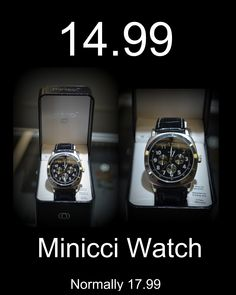 Nice looking Minicci Watch for only 14.99. Normally this watch is 17.99. Give us a call @ 618-244-0291 for more info or for payment and shipping options