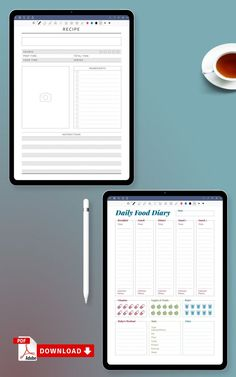 This Daily Food Menu will guide you to eat more healthy and drink more water. It is important to follow a strict eating schedule. You can choose paper size: A4, A5, Letter or Half Letter. Or use it with Xodo, Goodnotes, Noteshelf and Notability for your iPad or Android tablet. #food #diary #daily #meal #planner Diary Template, Food Menu Template, Meal Planner Template, Meal Planner Printable, Free Printable, Monthly Meal Planning, Menu Planners, Evening Snacks, No Calorie Snacks
